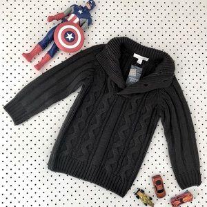 Boys size 3 PUMPKIN PATCH Cable Knit grey jumper